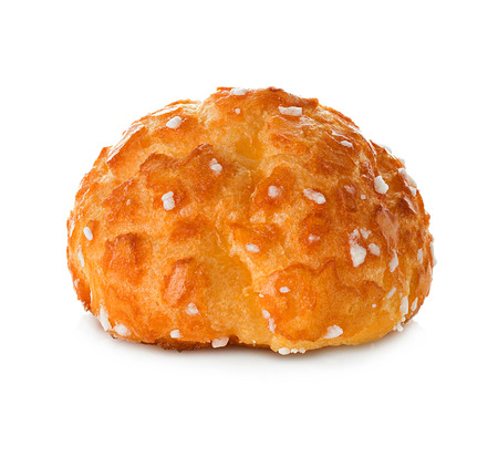 choux bun: choux pastry isolated on white