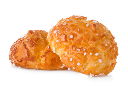 choux: choux pastry isolated on white