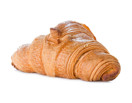 croissant close-up on white background photo