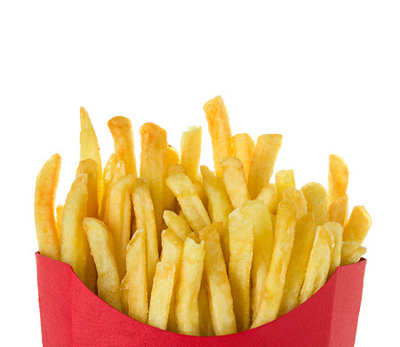 French fries isolated on white background 版權商用圖片