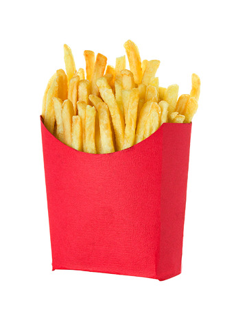 French fries isolated on white background Reklamní fotografie