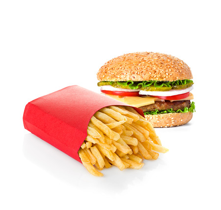 fast food isolated on white background Banque d'images