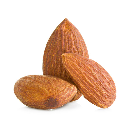 almonds isolated on a white background photo