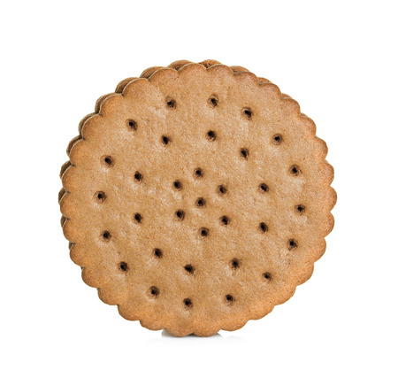 Chocolate cookie isolated on white background Banque d'images