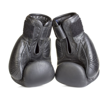 boxing gloves isolated on white background photo