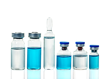 ampoules: ampoules, bottles, vials isolated on white background Stock Photo