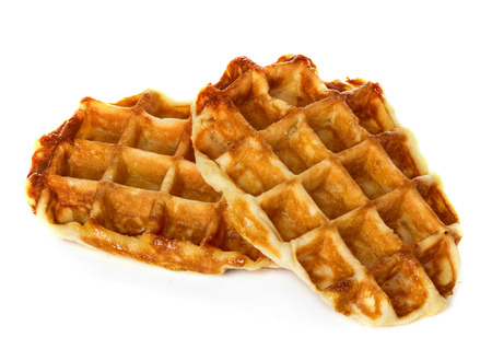 liege: Liege waffles, pastries isolated on white Stock Photo