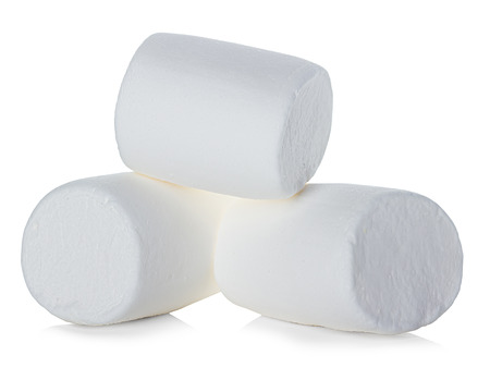 Marshmallow isolated on white background