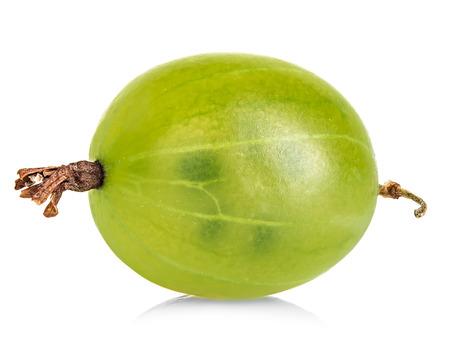 gooseberry: Grosella espinosa aislado en blanco