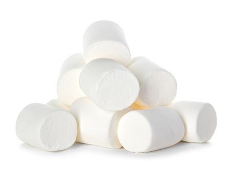 Marshmallow op een witte achtergrond