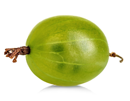 grosella: Grosella espinosa aislado en blanco