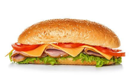 sandwich de pollo: s�ndwich aislados Foto de archivo
