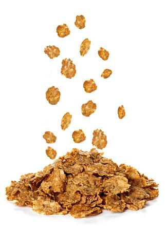 cereal: Flakes, Desayuno cereales aisladas sobre fondo blanco