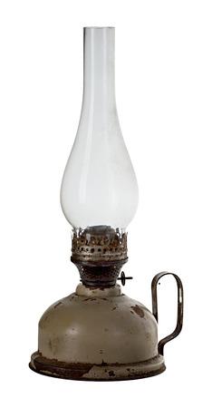 oil lamp: Oil lamp isolated on white