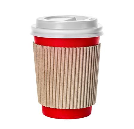 Koffie beker geïsoleerd Stockfoto
