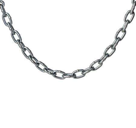 cadena rota: Cadena de metal aislado en blanco