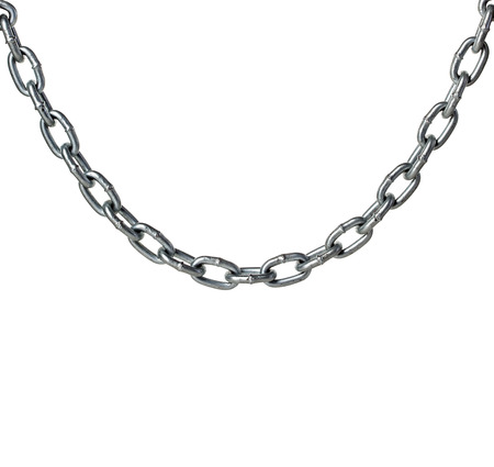 broken chain: Metal chain isolated on white