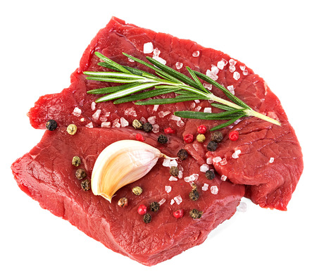 steak beef: Beef raw meat isolated on white background Stock Photo
