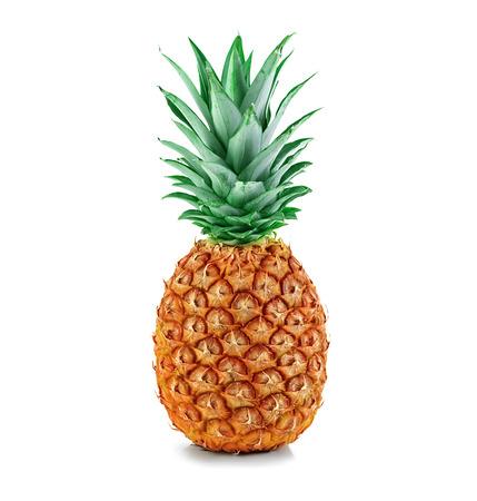 homme détouré: ananas isolés Banque d'images