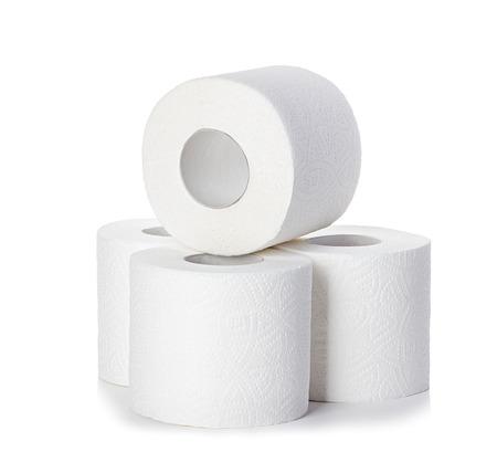 papel de baño: Papel higiénico aisladas