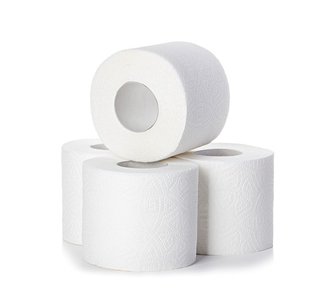 Toilet paper isolated Standard-Bild