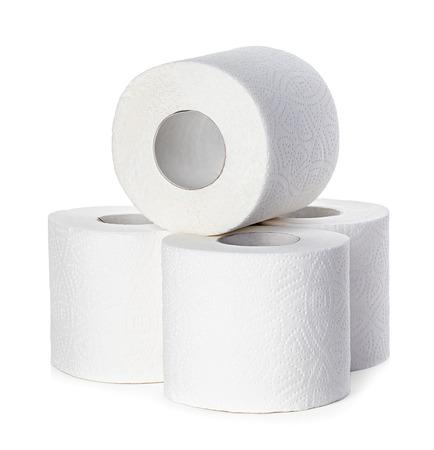 Toilet paper isolated Archivio Fotografico