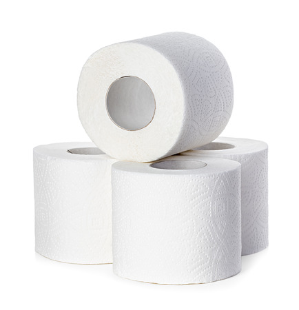 Toilet paper isolated Standard-Bild