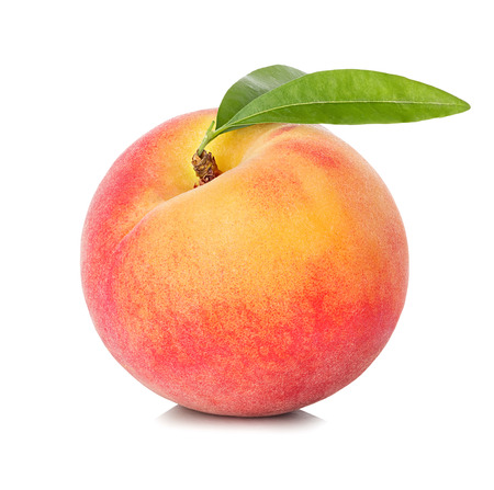 Peach isolated on white background Фото со стока - 40902782