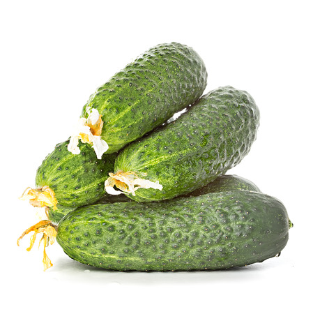 cuke: cucumbers isolated on white background