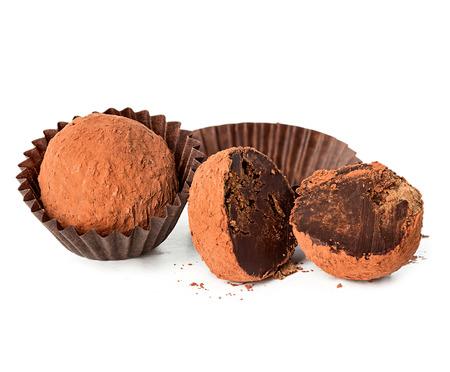 truffle: chocolate truffle isolated