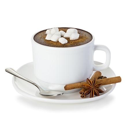 hot chocolate drink: Hot chocolate isolated