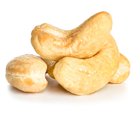 cashews: Cashews nuts isolated on a white background