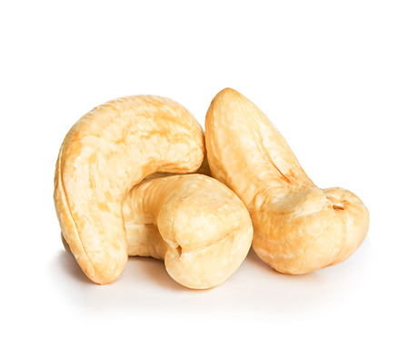 Cashews nuts isolated on a white background