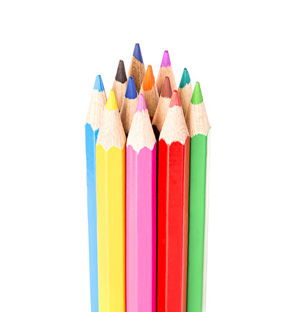 colored school: Colored pencils isolated