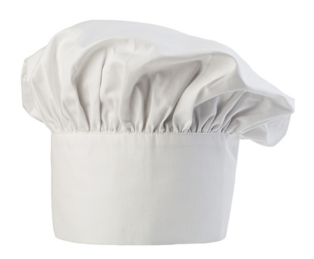 Chefs hat close-up isolated on a white background. Cooks cap.