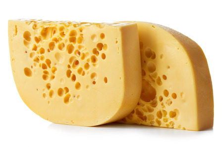 cheez: Cheese close-up isolated on white background. Stock Photo