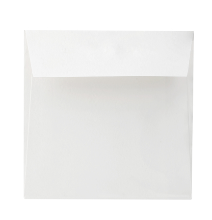 Blank envelope close-up isolated on a white background. Фото со стока
