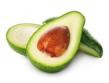 Fresh ripe avocado isolated on white