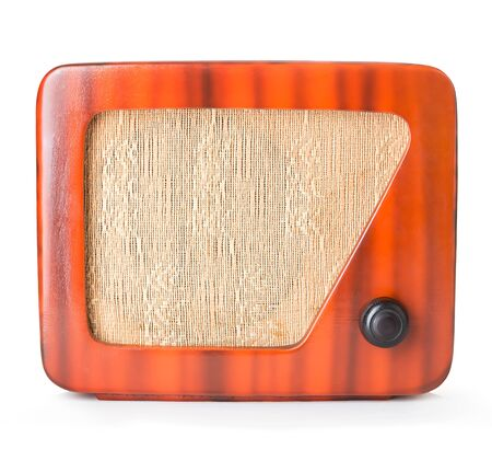Old Wooden Radio Isolated Banque d'images
