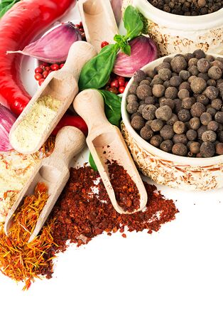 Spices and seasonings close-up Banque d'images