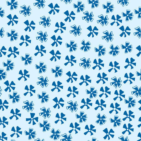 cornflowers: Vector seamless pattern with  blue cornflowers