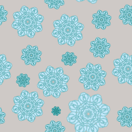 ny: Seamless pattern with snowflakes for Christmas and NY