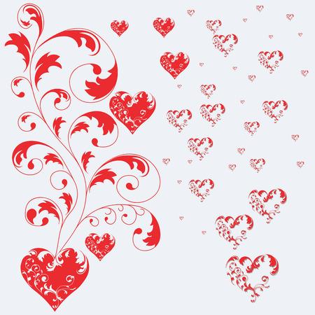 valentine tree: Valentine tree vector illustration Illustration