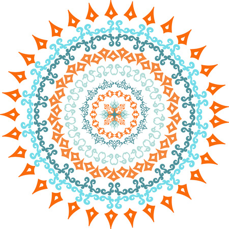 Mandala. Vector illustration with ethnic decorative elements. Hand drawn background. Islam, Arabic, Indianmotifs.