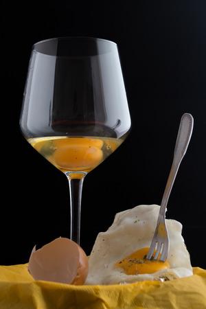 fork glasses: egg