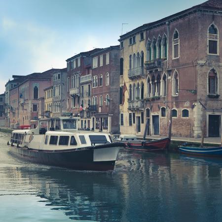 waterbus: Venice Waterbus Transport With Colorful Historic Buildings