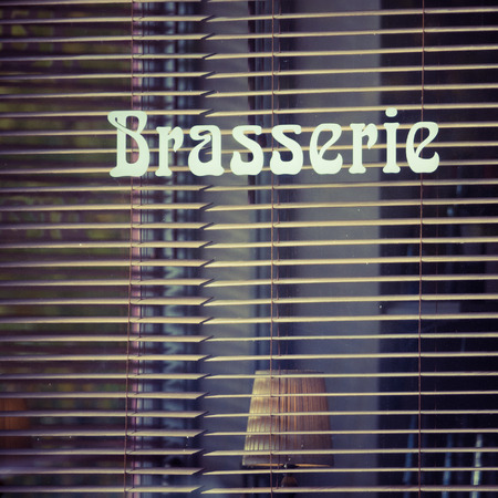 brasserie: Window Of Traditional French Brasserie Cafe Bar