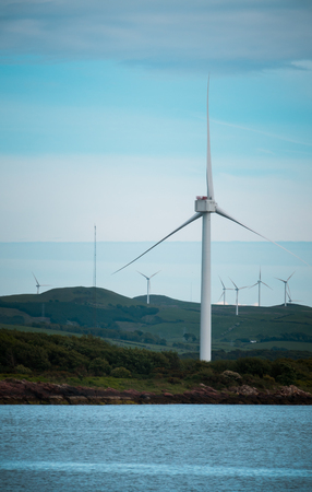 Wind Turbines In the West of Scotland Stock Photo