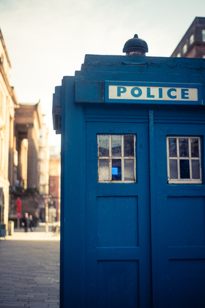 Old Police Box in Glasgow, Scotland