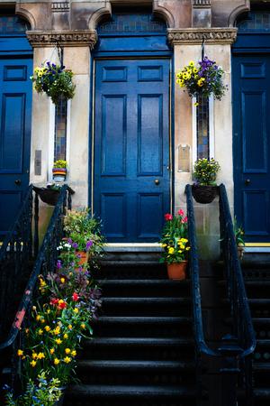 Colourful and Elegant Front Entrance Glasgow Stock fotó